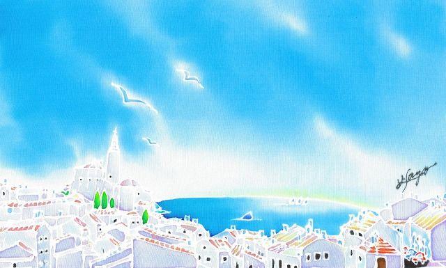 青い地中海の夏