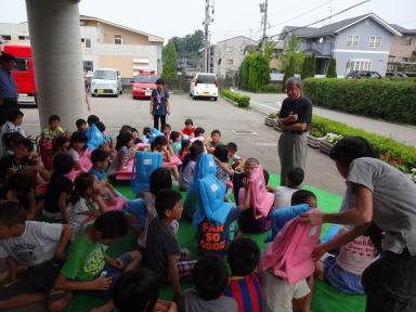村田館長から避難訓練実施の訓示も