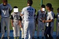林智勝選手から金メダル授与150729