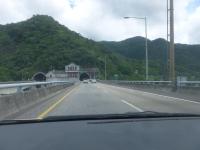 雪山トンネルが見えてきた150708