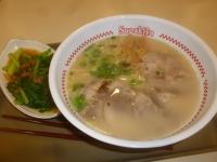 寿がきやチャーシュー麺&燙青菜150728
