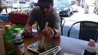山本さんがアワビと出会った