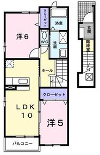 ■物件番号P4958 辻堂海側!ペット可!2LDK!小型犬&ネコOK!2階カド部屋!敷金ゼロ・礼金ゼロ!9.2万円!