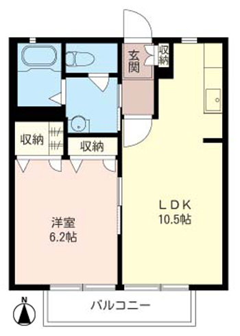 ■物件番号4122 辻堂駅!格安1LDK!2階!1LDK!収納豊富!日当り最高!駐車場無料6.9万円!!