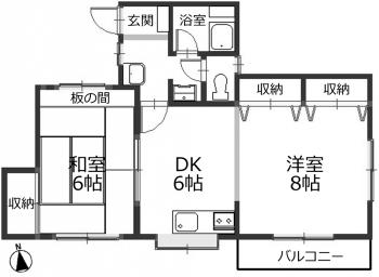 ■物件番号4141 柳島海岸!海まで3分!2DKで1人暮らし!2階カド!敷地P有り!格安5.3万円!