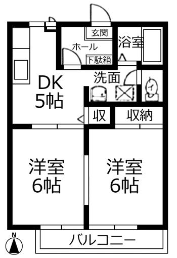 ■物件番号5005 海2分!海近2DK!お手頃7万円!オール洋室!独立洗面!エアコン!都市ガス!カップル!