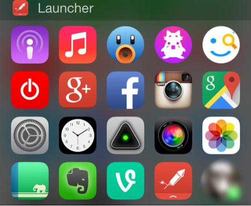 ウィジェット画面Launcher