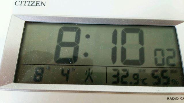 時計 暑い