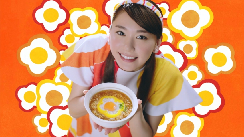 日清食品 チキンラーメン「パプリカ星人 篇」新垣結衣