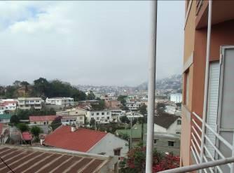 アパートのベランダからの風景