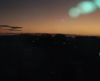 マダガスカルの町の日暮れ