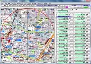 いきなり!ステーキ蒲田店周辺500m圏データ