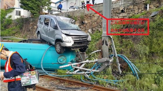2015-7-6糞尿収集車転落2