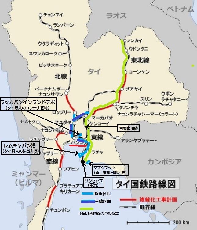 2015-7-19タイ国鉄路線図説明入り拡大版