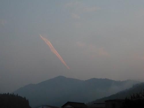 変な雲 AM5:12頃