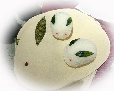 ランチョンマット・雪ウサギ