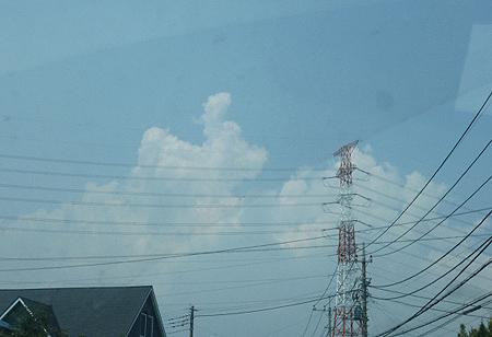 榛名山上空の雲