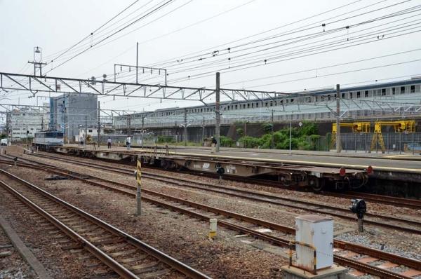 甲種輸送列車9867レ5000系電車解放後