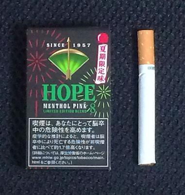 ホープ・メンソールピンク HOPE_MENTHOL_PINK HOPE ホープ タバコ JT