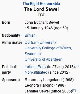 wikiJohn Sewel, Baron Sewel