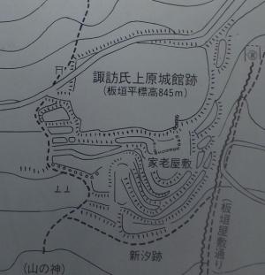 上原城/板垣平縄張図