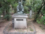 西鶴像(生玉神社))