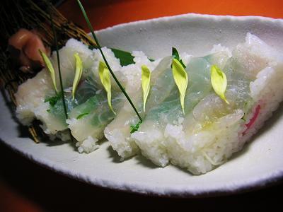 押し寿司鯛