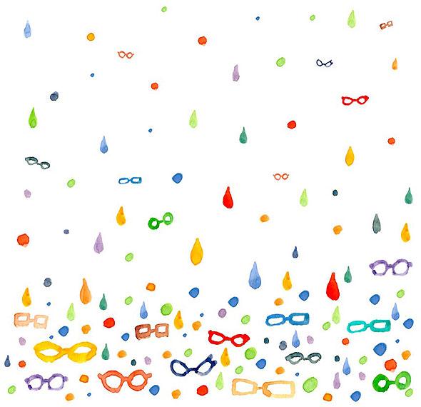 メガネの雨