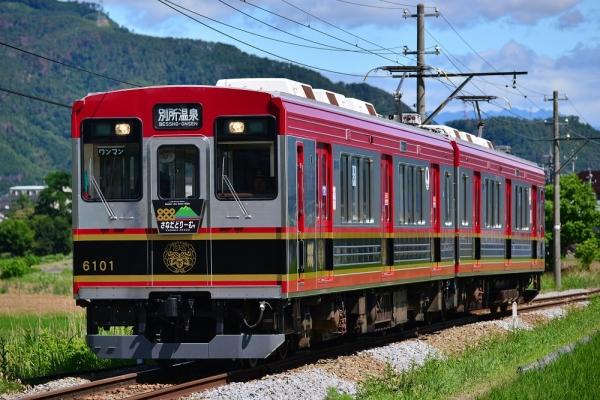 2015年6月28日 上田電鉄別所線 大学前~下之郷 6000系6001編成