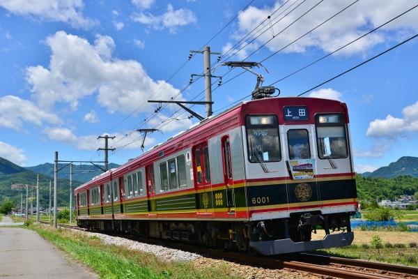 2015年6月28日 上田電鉄別所線 舞田~中野 6000系6001編成
