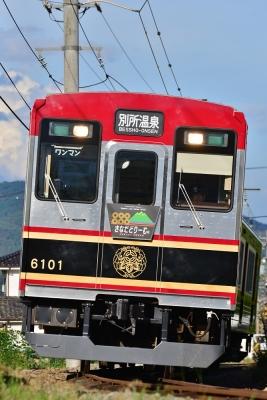 2015年7月20日 上田電鉄別所線 八木沢~別所温泉 6000系6001編成