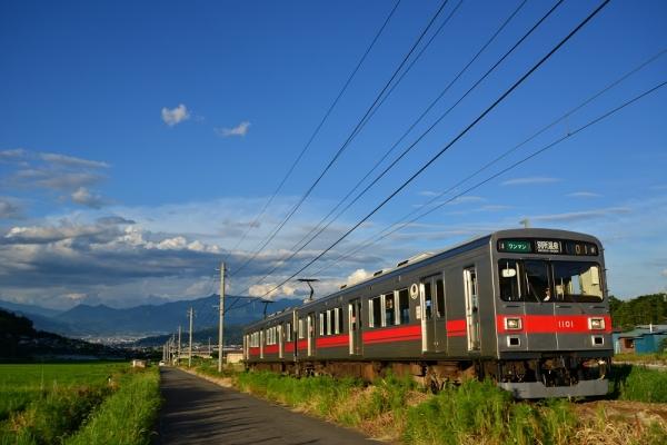2015年7月20日 上田電鉄別所線 八木沢~別所温泉 1000系1001編成
