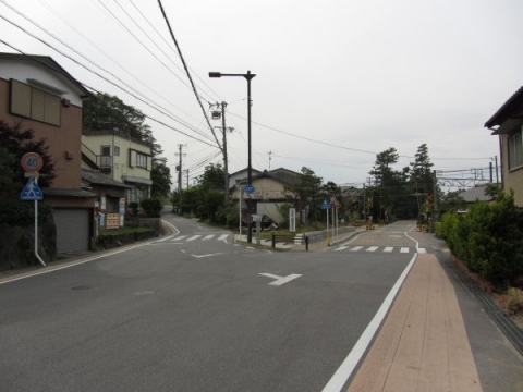 吉良道・旧東海道分岐点