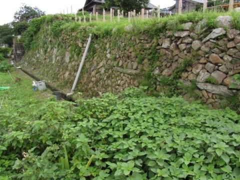 藤川宿本陣跡石垣
