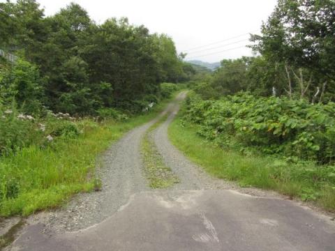 初瀬尾跨線橋横に残る旧国道