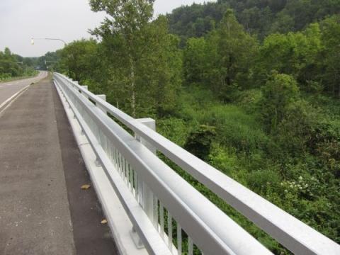 初瀬尾跨線橋と深名線跡