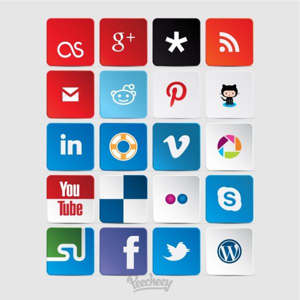 ソーシャルメディア アイコン Social media icons