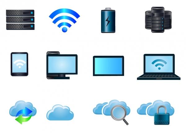 クラウド コンピューティング アイコン Cloud computing icons
