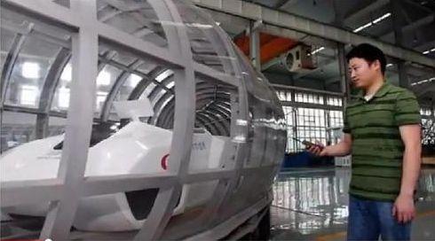 中国が開発中のチューブ列車