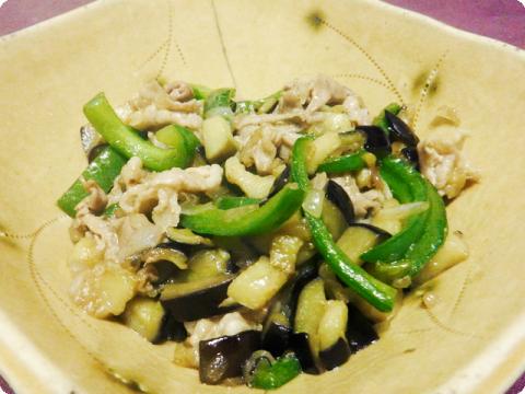 夏野菜と豚肉炒め