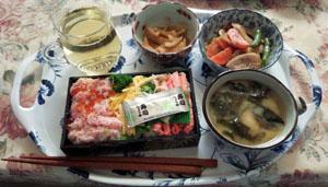 母とお昼ご飯 お寿司他
