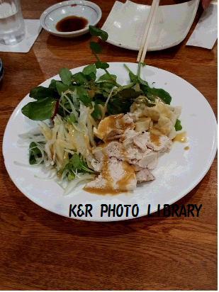 2月22日クレソンと蒸し鶏のサラダ