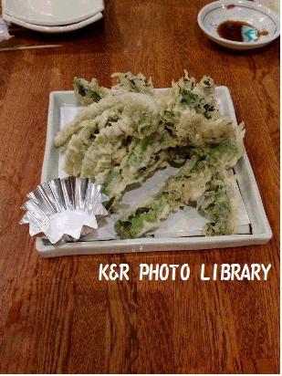 2月22日山菜の天ぷら盛