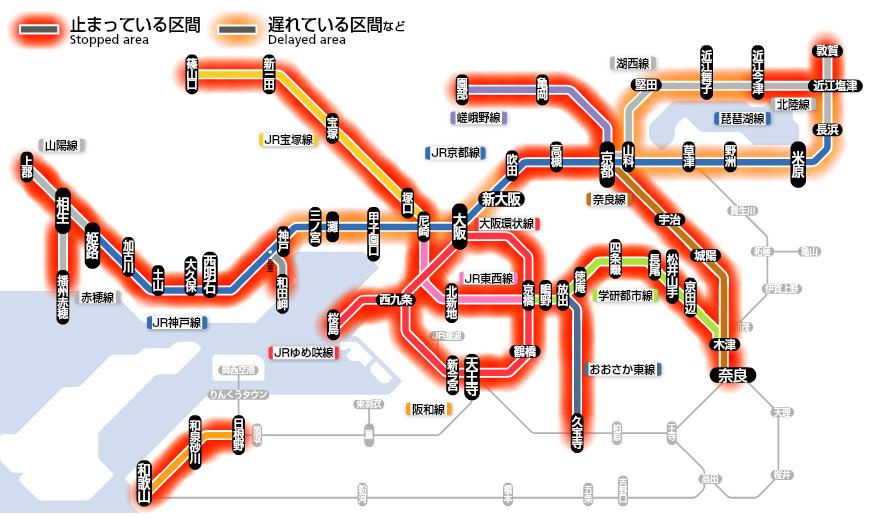 JR西日本運行状況201507180704