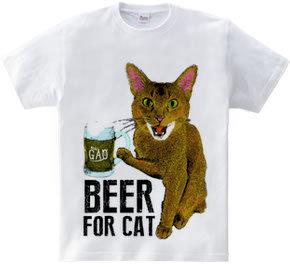 ビール猫Tシャツ