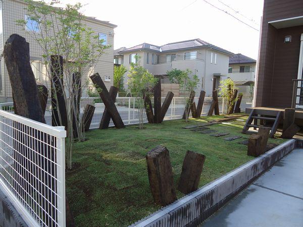 お庭の完成