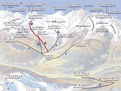 map Saas-Fee