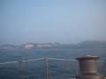 靄に霞む五浦半島