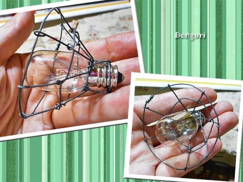 ワイヤーでランプシェードを作ってみた (^ ^V