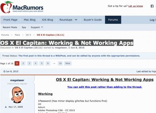 El_Capitan_Working_Not_Working_Apps